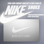 Get a free Nike shoes gift card