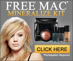 You can get a mac cosmetics free samples! Youtube.