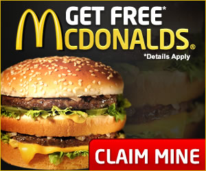 Get a free Mcdonalds gift card