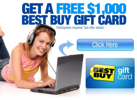 Get a Free $1000 Best Buy Gift card