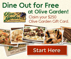 Get a free Olives garden gift card