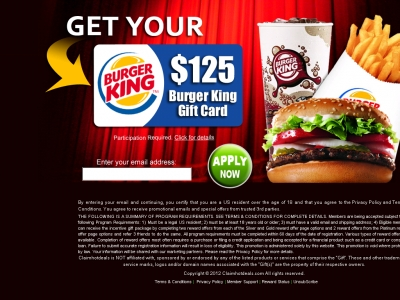 Get a Free Burger King Gift card