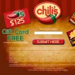 Get a Free $125 chili's gift card
