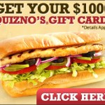 Get a free quizno's gift card