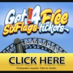 Get a Free 4 Tickets to Six Flags
