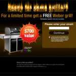 Get a Free Weber grill